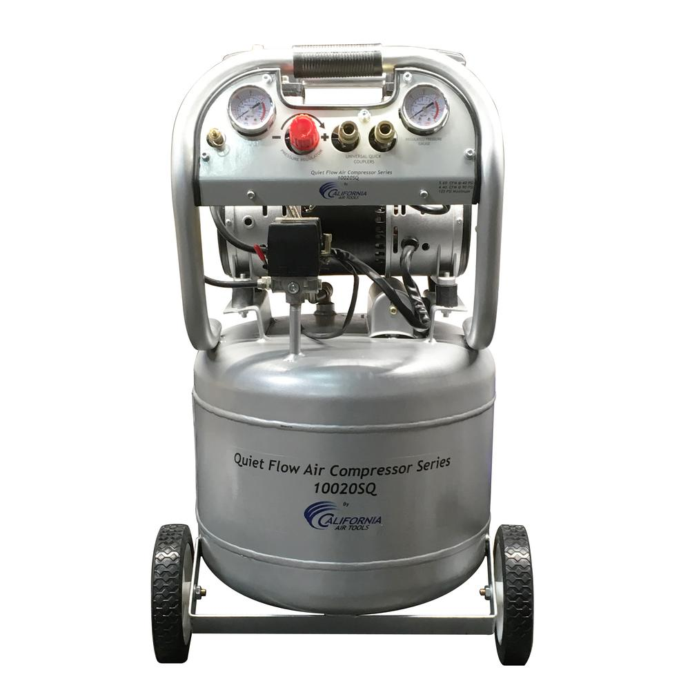 California Air Tools Quiet Flow 10 Gal. 2.0 HP Portable Electric Oil-Free Air Compressor
