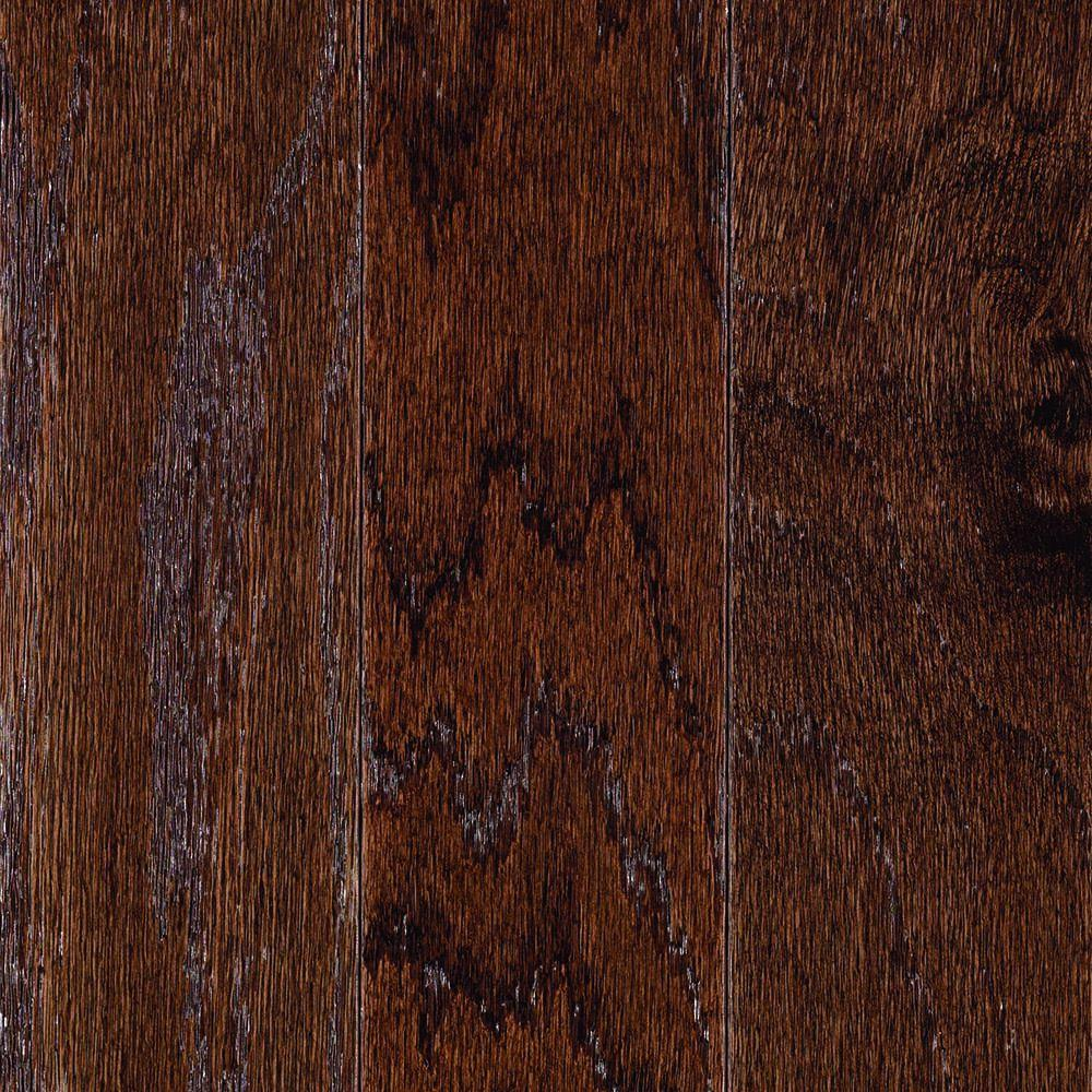 Mohawk monument chocolate oak 3 8 in thick x 5 in wide x for Hardwood flooring 8 wide