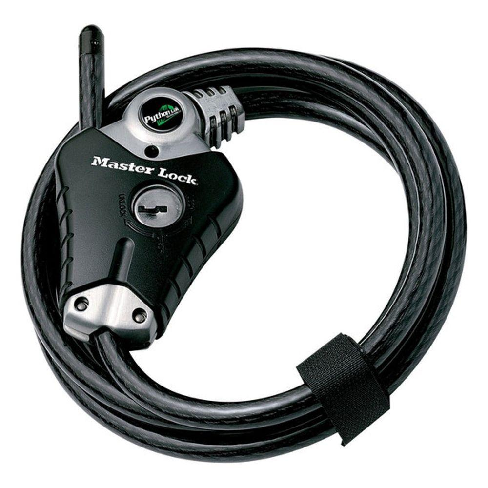 Master Lock 8 ft. Python Vinyl Coated Adjustable Locking Cable ...