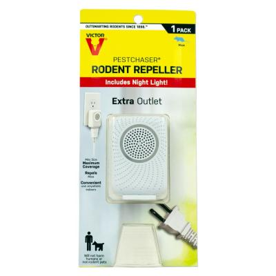 PestChaser Rodent Repeller with Nightlight and Extra Outlet