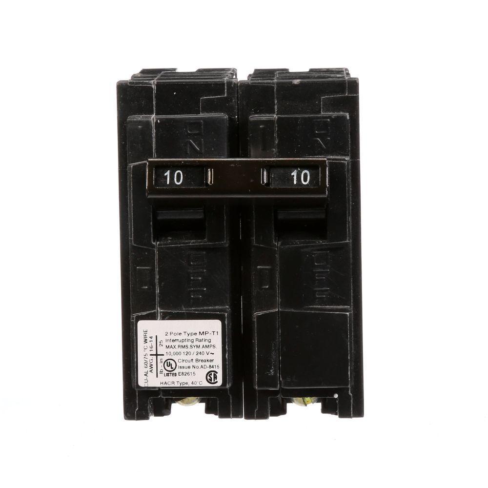 10 Amp Double-Pole Type MP Plug-In Circuit Breaker