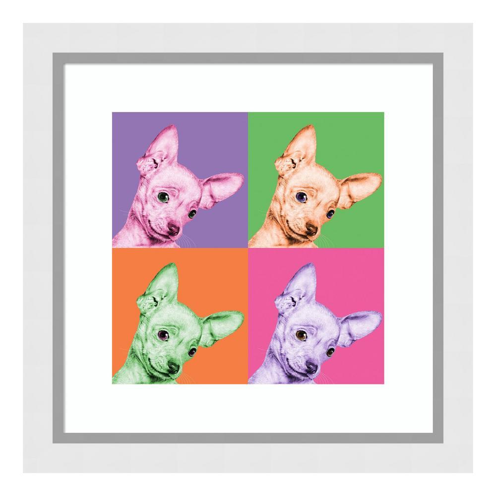 "Amanti Art ""Sweet Chihuahua Pop"" by Jon Bertelli Framed Wall Art"
