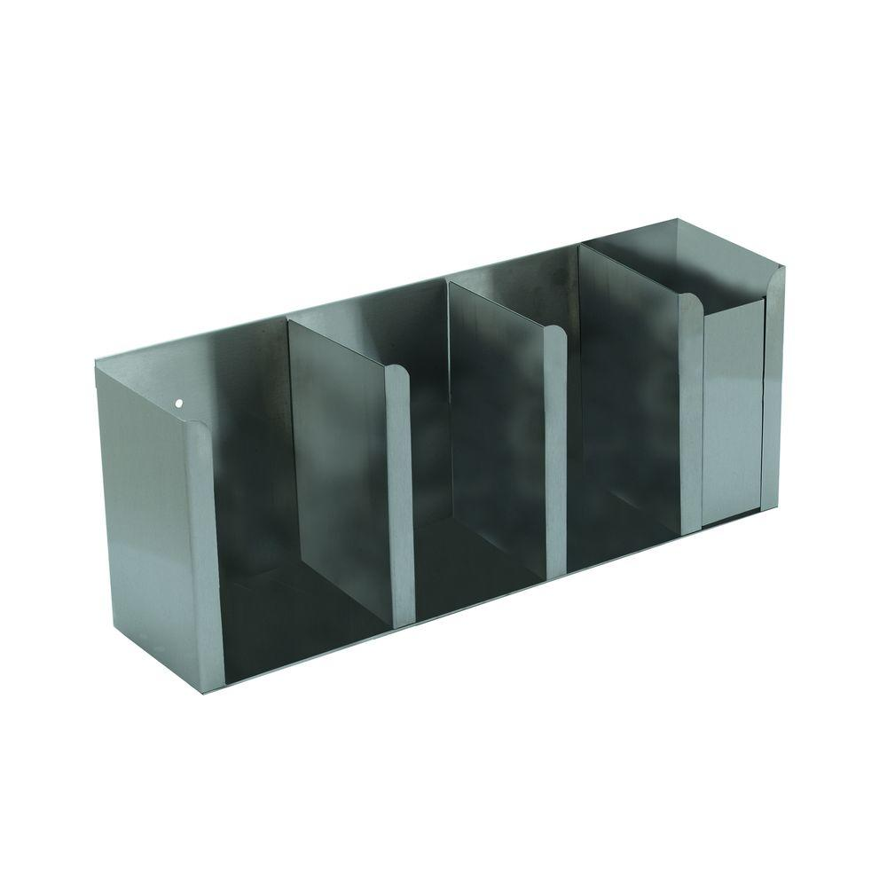 Carlisle 4-Station, Stainless Steel (Silver) Construction...