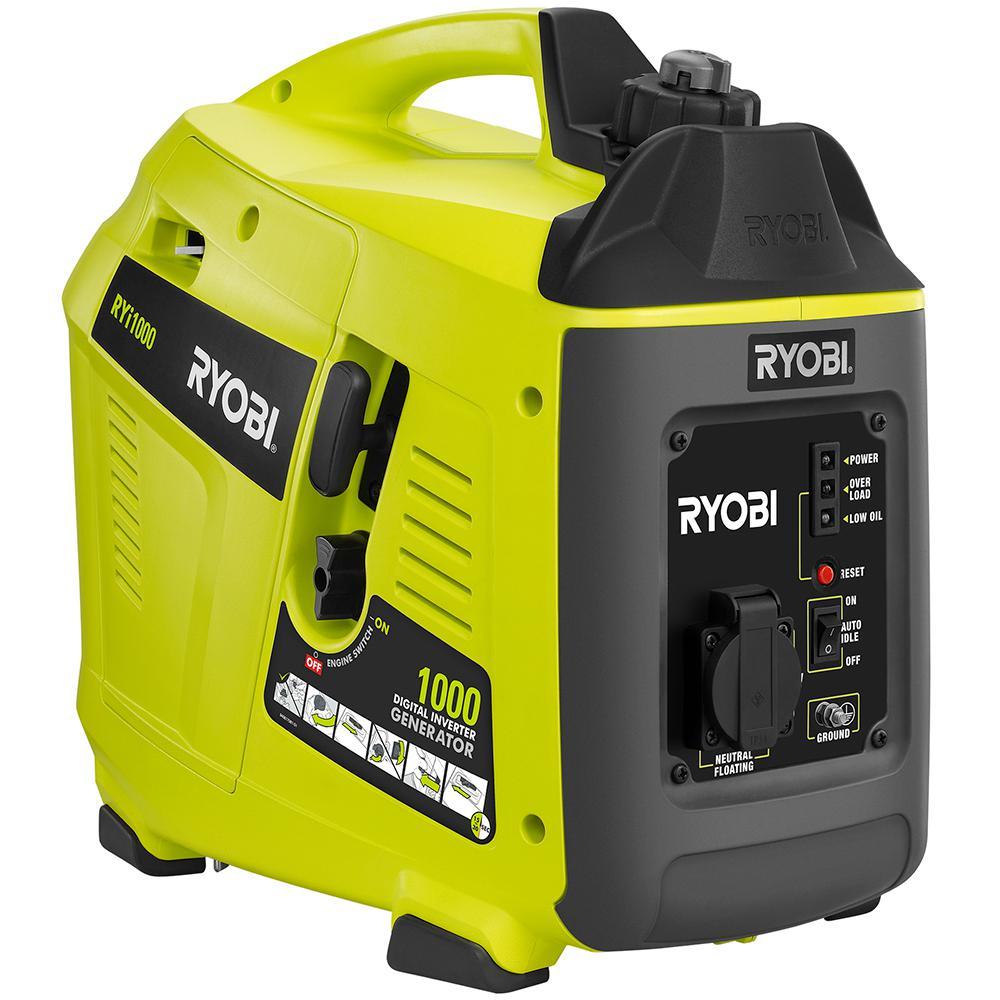 Ryobi RYi1000 1000 Watt Gasoline Inverter Generator (Green)