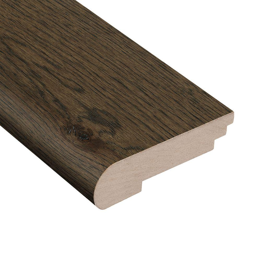 Wire Brushed Hickory Coffee 3/8 in. Thick x 3-1/2 in. Wide