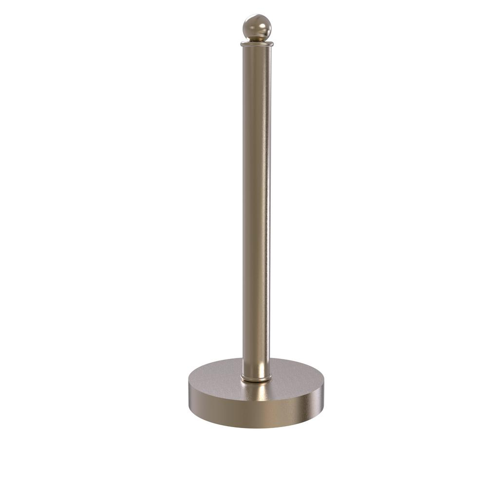 Allied Brass Contemporary Counter Top Kitchen Paper Towel Holder in Antique Pewter