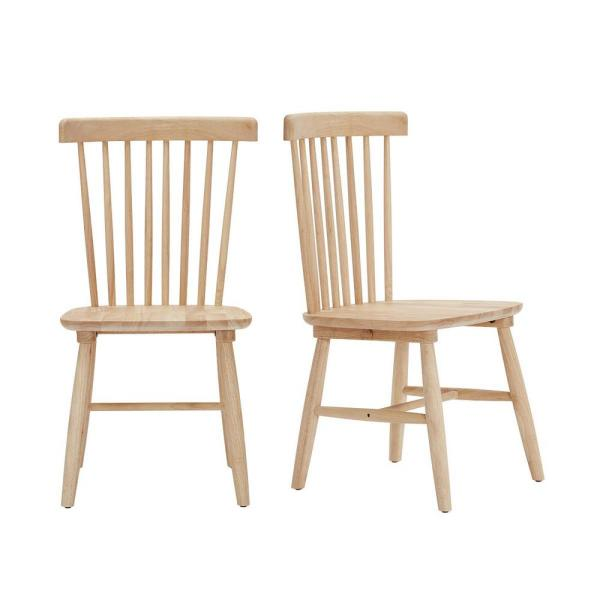StyleWell Unfinished Wood Windsor Dining Chair (Set of 2) (19.50 in. W x 35 in. H)