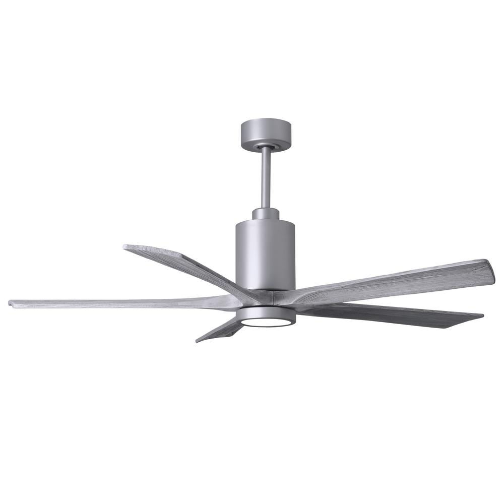 Atlas Patricia 60 in. LED Indoor/Outdoor Damp Brushed Nickel Ceiling Fan with Light with Remote Control and Wall Control