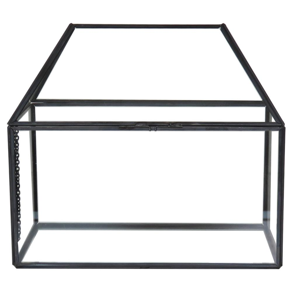 Hampton Bay 8 5 In Metal And Glass Terrarium Tg930 The Home Depot