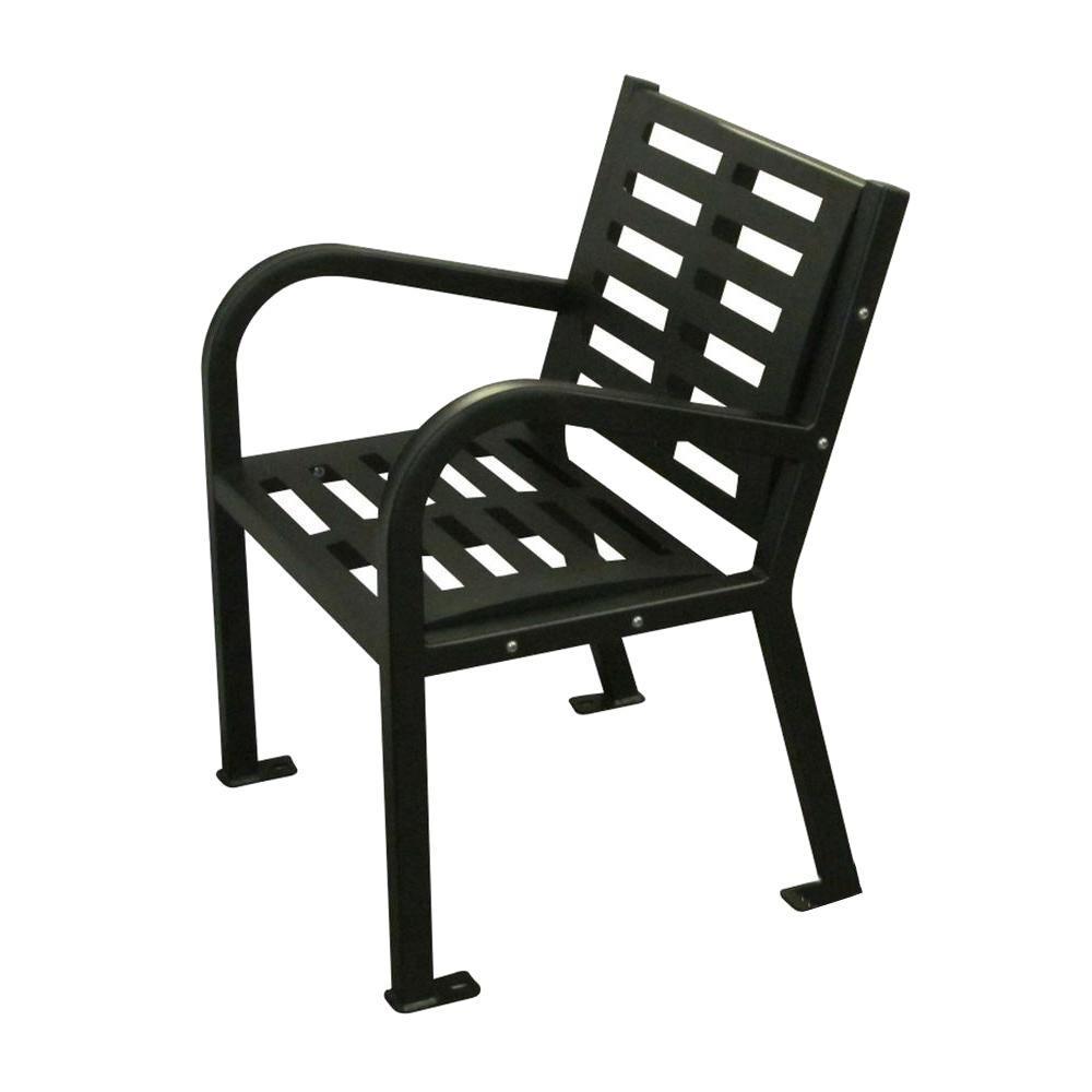 LastingImpressions Lasting Impressions 2 ft. Outdoor Seat, Black
