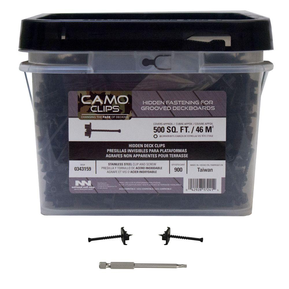 CAMO Stainless Steel Hidden Deck Clip (900-Count)