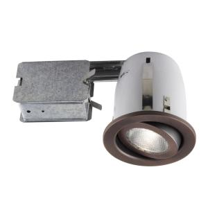 BAZZ 500 Series 4 inch Rust Recessed Halogen Light Fixture Kit by BAZZ