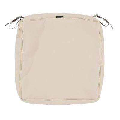 Montlake Fade Safe Antique Beige 17 in. Square Outdoor Seat Cushion Cover