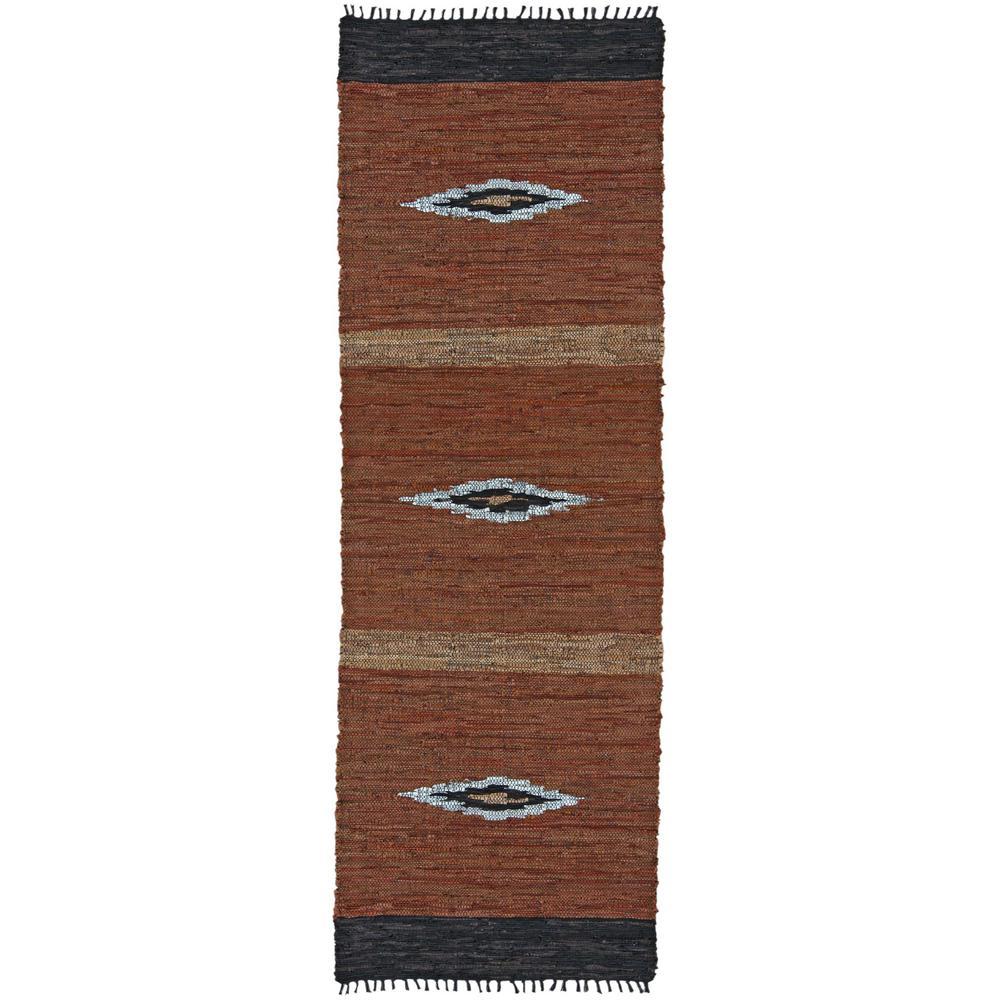 Diamond Leather 3 ft. x 12 ft. Runner Rug