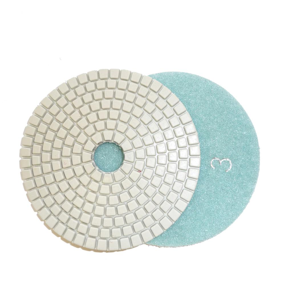 4 in. JHX 3-Step Dry/Wet Diamond Polishing Pads Step 3