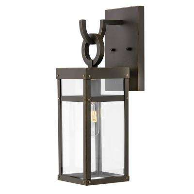 Porter 1-Light Oil Rubbed Bronze Outdoor Wall Mount Lantern Sconce