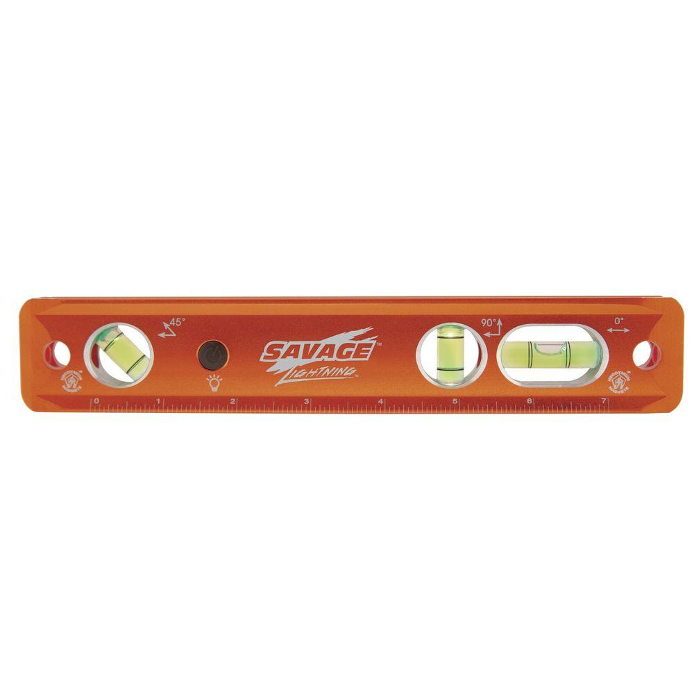 Savage 9 in. Lightning Lighted Magnetic Torpedo Level