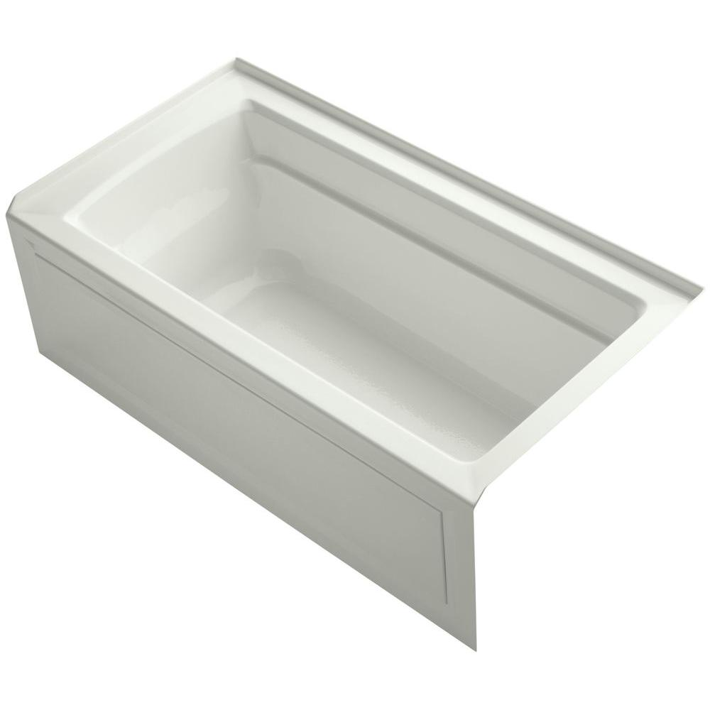 KOHLER Archer 5 ft. Right Drain Bathtub in Dune