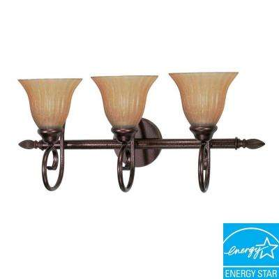 3-Light Copper Bronze Vanity Light