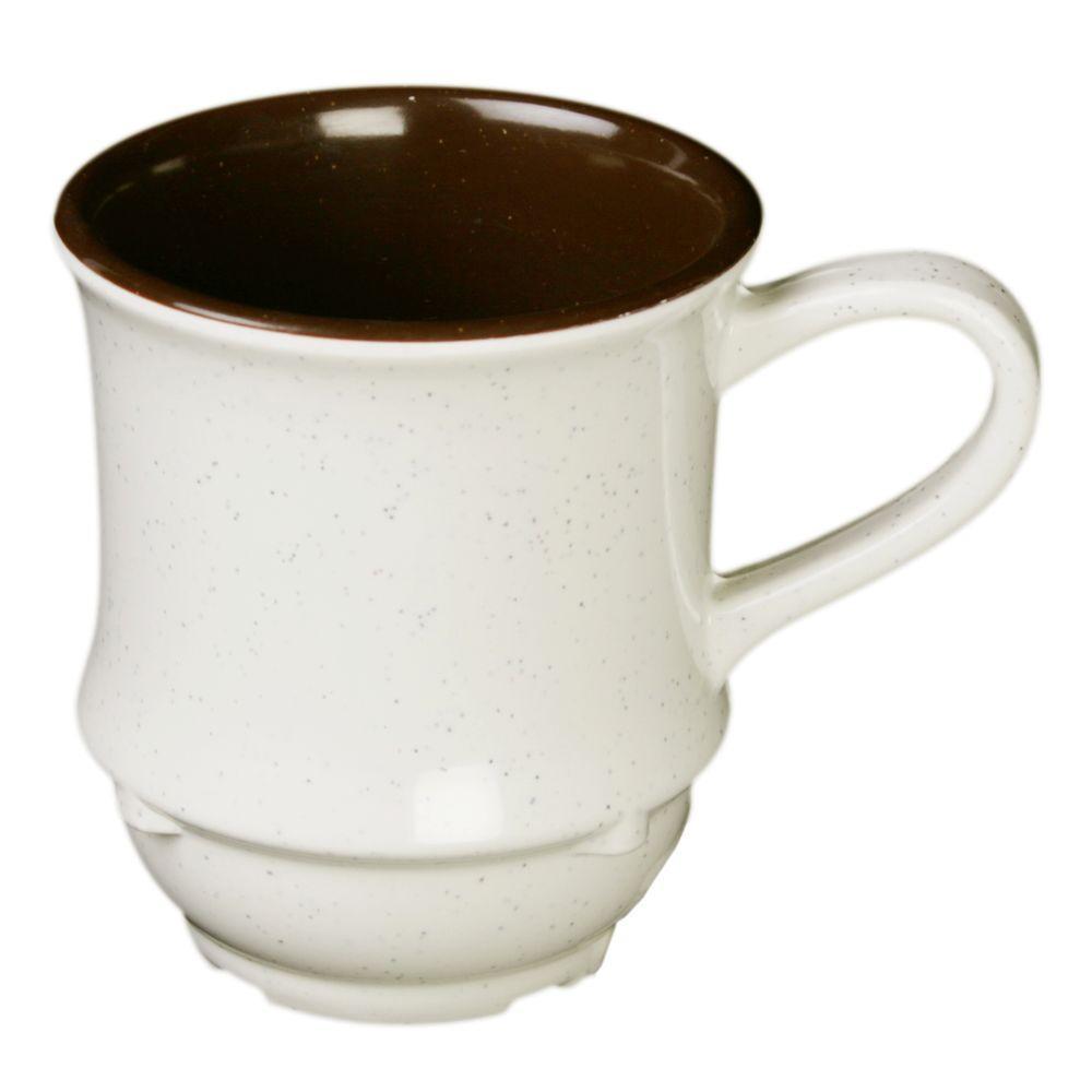Restaurant Essentials Arcacia 8 oz., 3-1/4 in. Cup Round Base Two Tone (12-Piece)