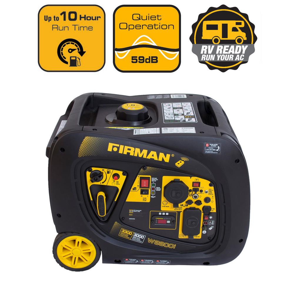 3300 3000 Watt Remote Start Gas Portable Generator Cetl And Carb Certified