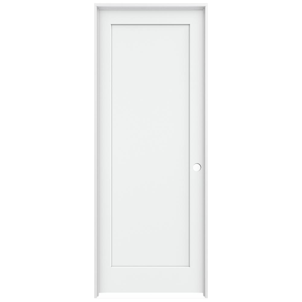Jeld Wen 36 In X 96 In Madison White Painted Left Hand Smooth Solid Core Molded Composite Mdf