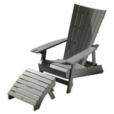 Manhattan Beach Coastal Teak 2-Piece Recycled Plastic Outdoor Seating Set with Wine Glass Holder