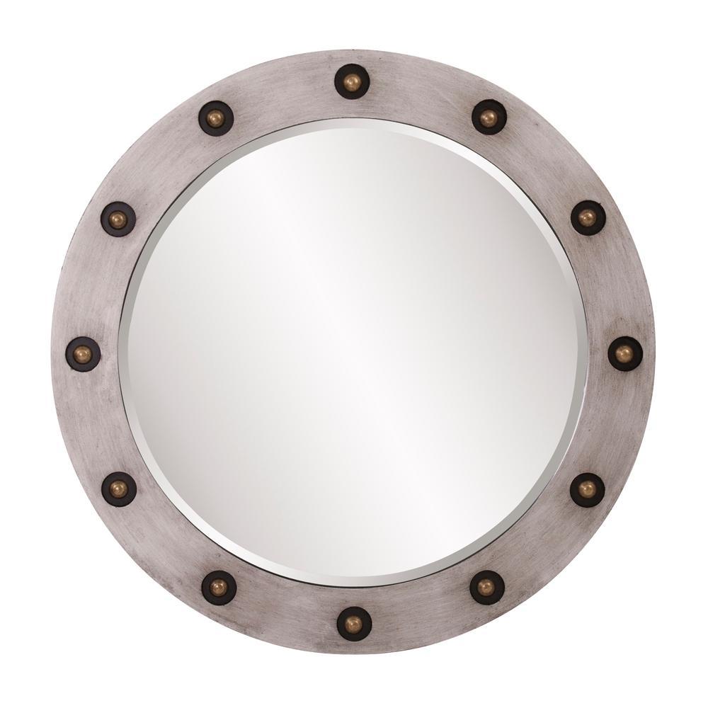 Jax Round Industrial Decorative Mirror
