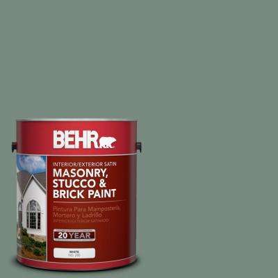 1-gal. #MS-61 Frosted Green Satin Interior/Exterior Masonry, Stucco and Brick Paint