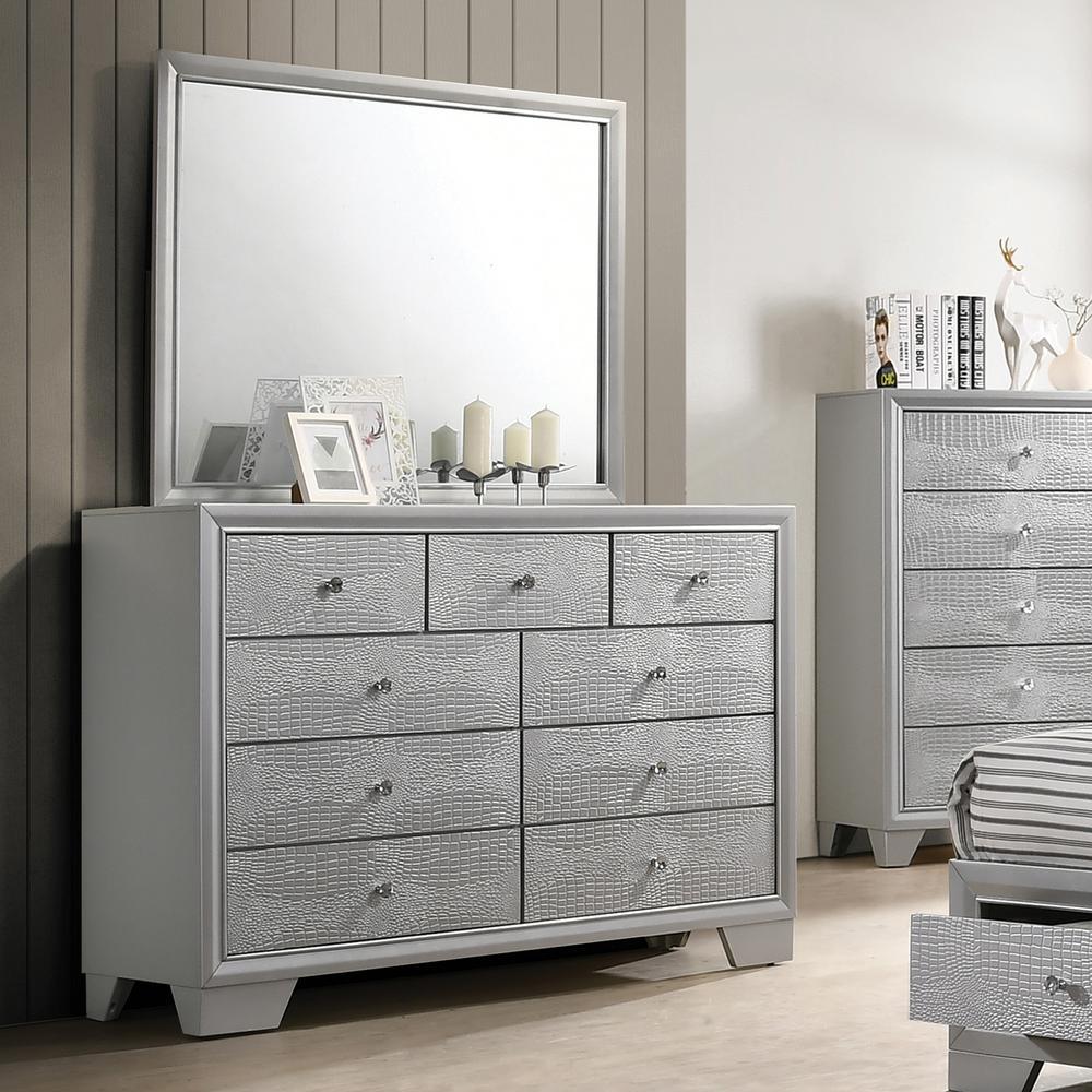Home Source Wash Dresser and Mirror