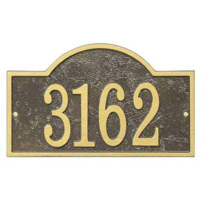 Fast and Easy Arch House Number Plaque, Bronze/Gold