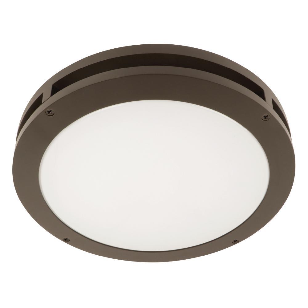 Jinko Led 5w Integrated Ceiling Lamp Bedroom Kitchen: Feit Electric 13 In. 18.5-Watt Bronze Outdoor Integrated