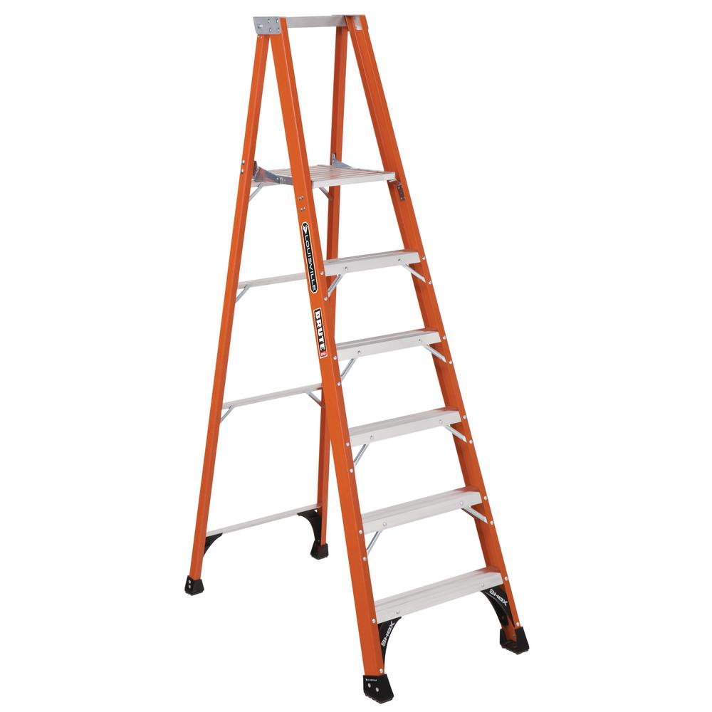 6 ft. Fiberglass Platform Step Ladder with 375 lbs. Load Capacity