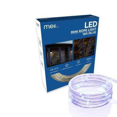 16 ft. 80 LED Blue Mini Rope Light