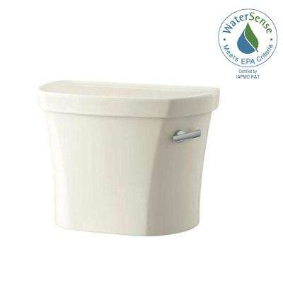 Wellworth 1.28 GPF Single Flush Toilet Tank Only with Right Hand Trip Lever in Biscuit