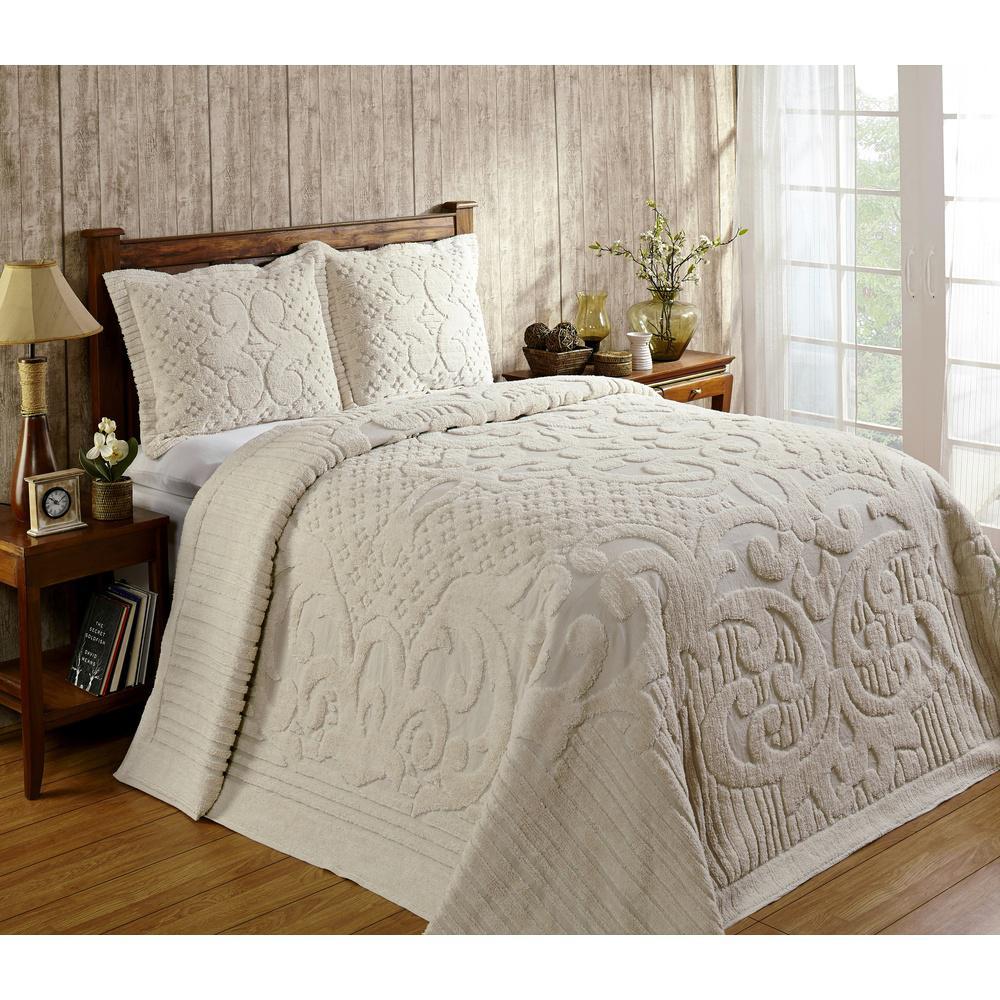 Better Trends Ashton 1-Piece Natural Queen Bedspread