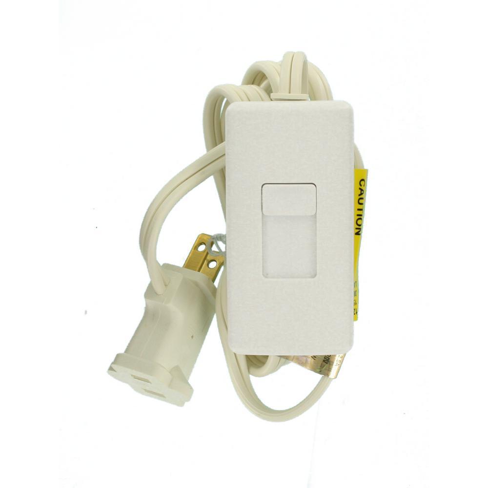 300-Watt Incandescent-CFL-LED Tabletop Dimmer, White