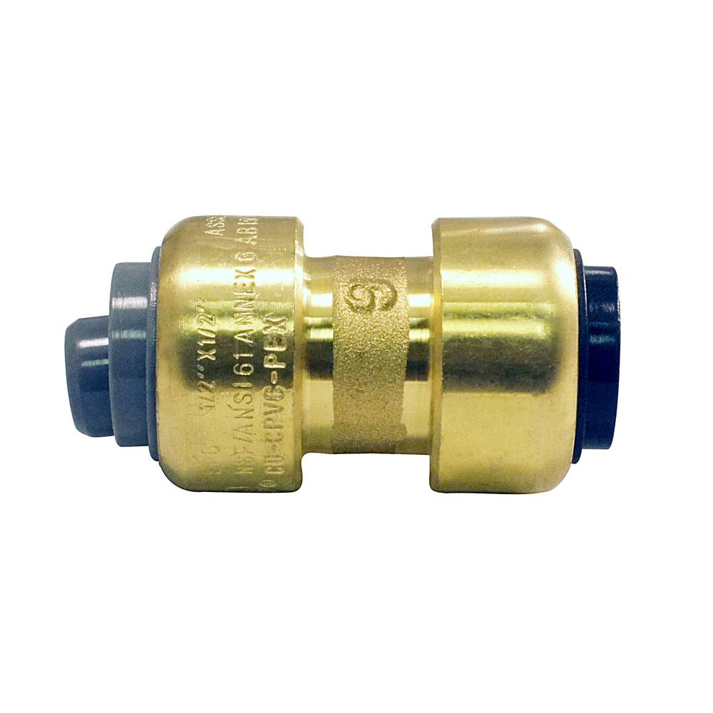 Tectite 1/2 in  Brass Push-to-Connect Polybutylene Conversion Coupling