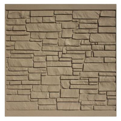 6 ft. H x 6 ft. W EcoStone Brown Composite Fence Panel