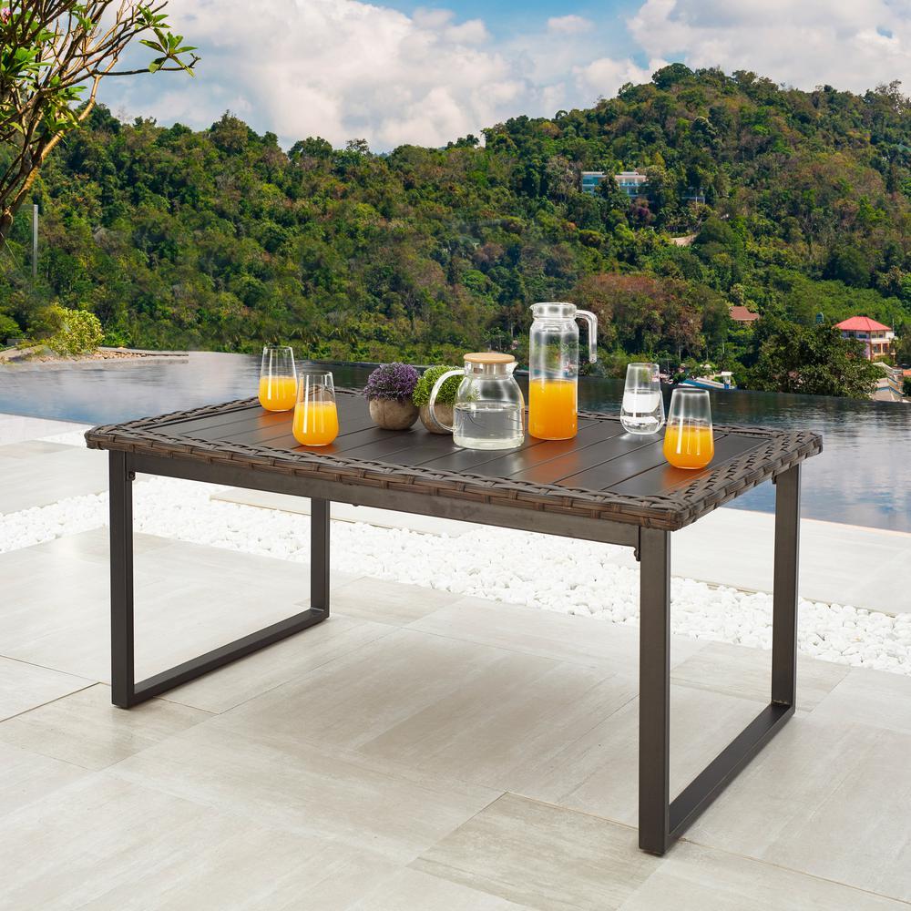 Wicker Rectangular Outdoor Coffee Table