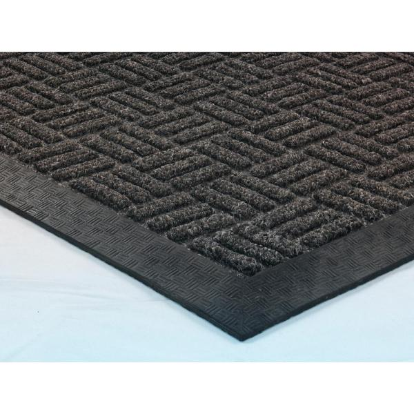 Ottomanson Charcoal 24 In X 36 In Loop Carpet Natural Rubber Door Mat Rdm9214 24x36 The Home Depot