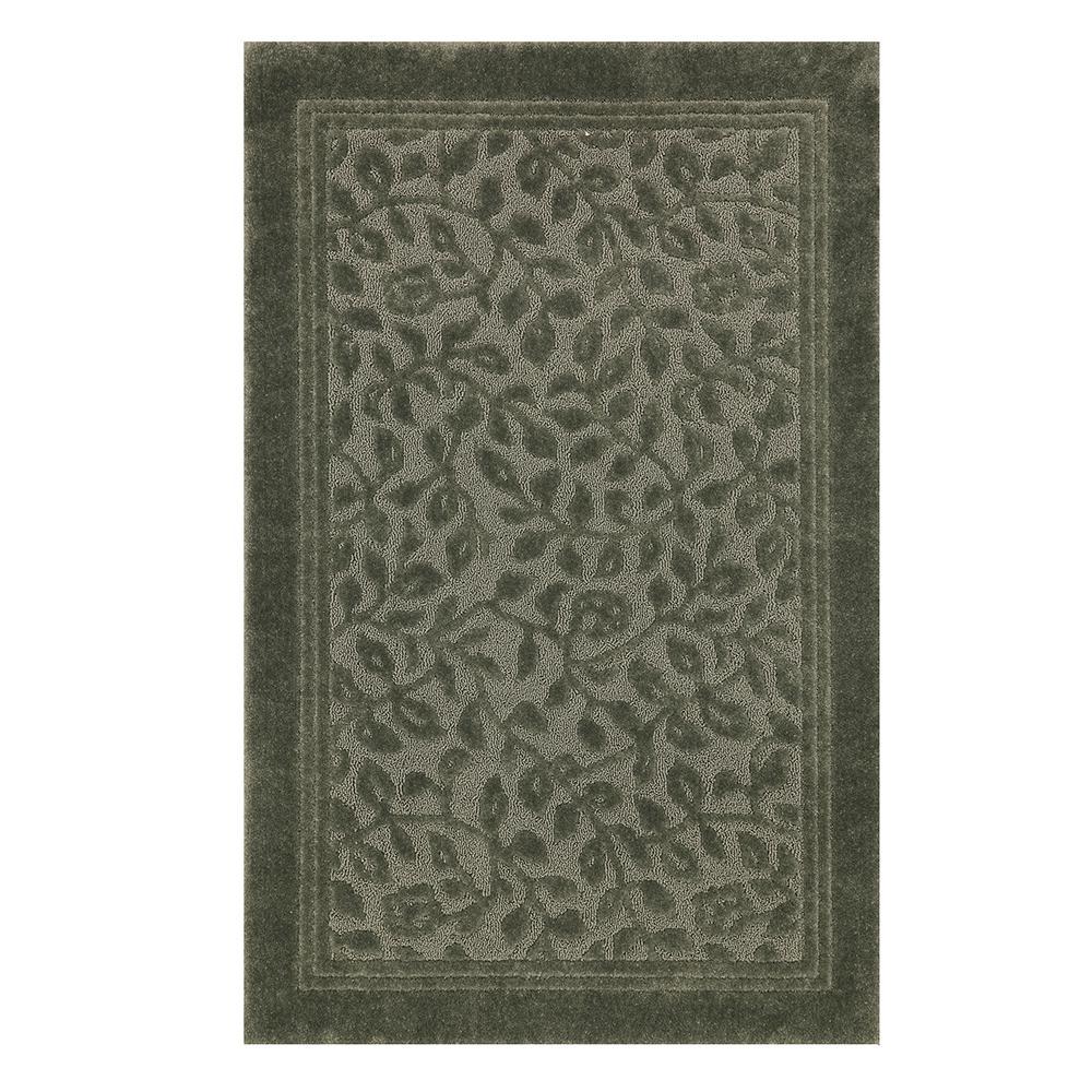 mohawk wellington 5 ft. x 7 ft. nylon bath rug in sage green