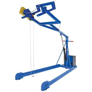 Vestil 84 inch Max Height Ac Power Manual Hydraulic Drum Stacker by Vestil