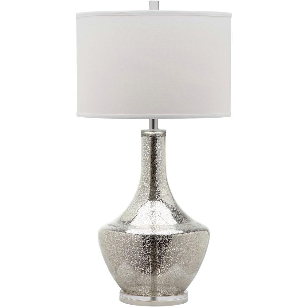 Mercury 33 in. Silver Table Lamp