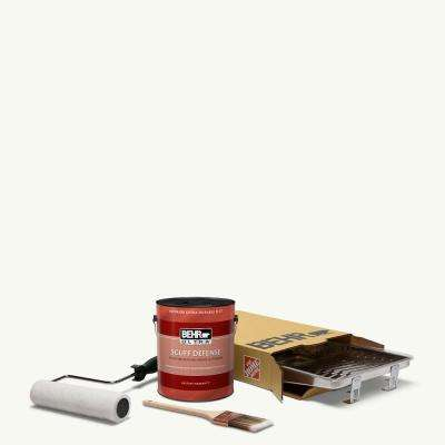 1 gal. #PPU18-06 Ultra Pure White Ultra Extra Durable Flat Interior Paint and 5-Piece Wooster Set All-in-One Project Kit