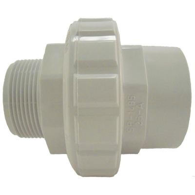 1-1/2 in. Socket x 1-1/2 in. Flush Male/Female Socket Union in White