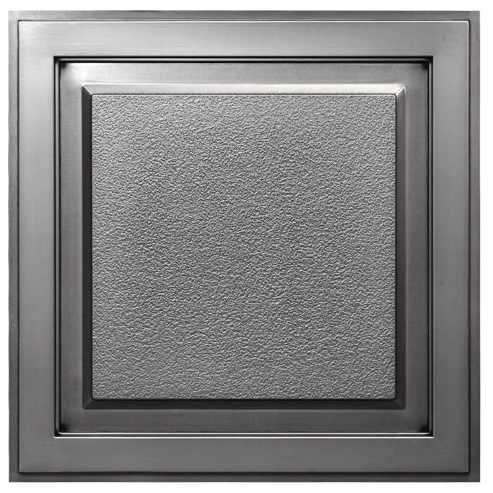 Udecor Element 2 Ft X 2 Ft Lay In Or Glue Up Ceiling Tile In Antique Nickel 40 Sq Ft Case Ct 1017 Sxys The Home Depot
