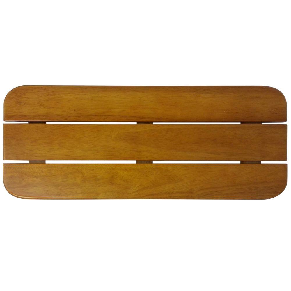 SteamSpa Teak Wood Wall-Mounted Shower Seat-SS-F - The Home Depot