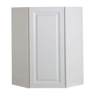 Benton Assembled 24x36x12.5 in. Corner Wall Cabinet in White