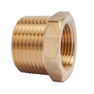 1 in. MIP x 3/4 in. FIP Brass Pipe Hex Bushing Fitting (3-Pack)